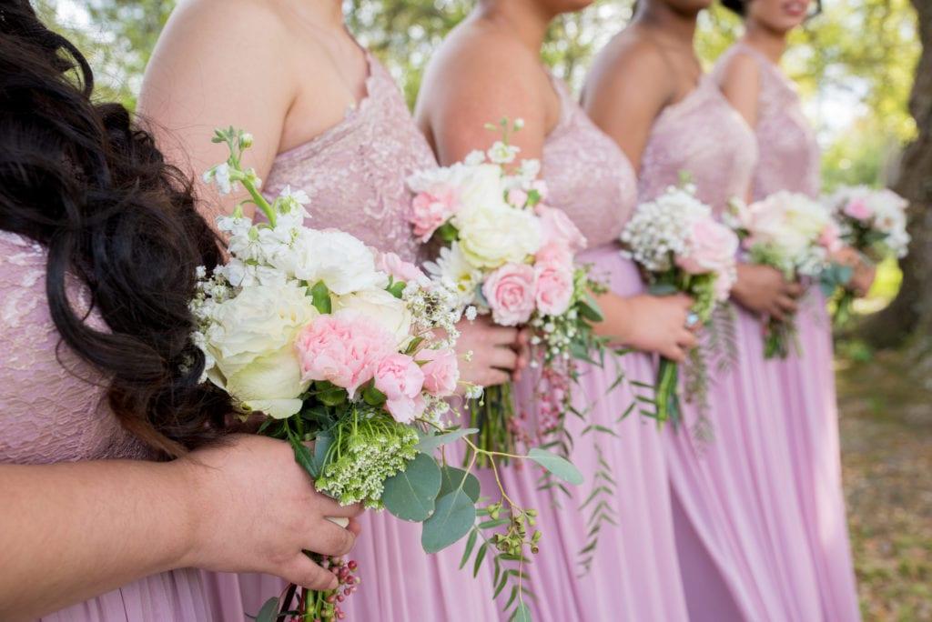 Coordination of bride's friends