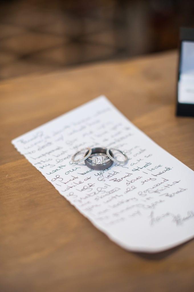 Wedding rings coordination