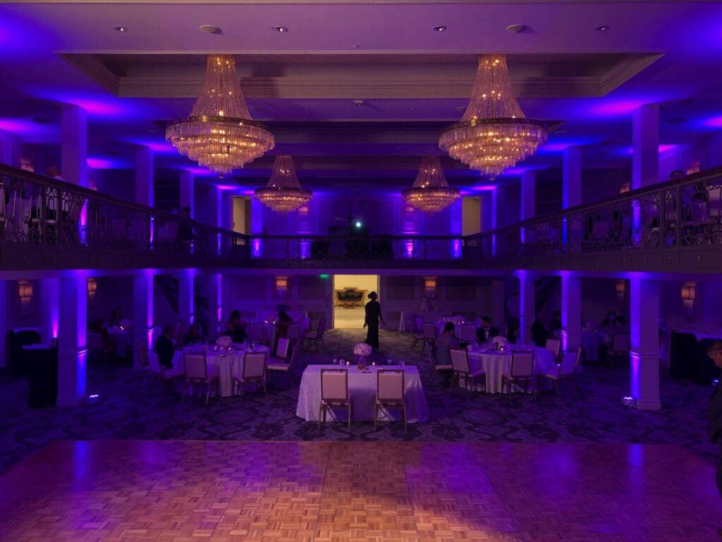 Beautiful display of event lighting
